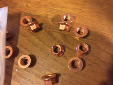 Porsche M8-1.25 Copper Exhaust Nuts 10mm wrench size -