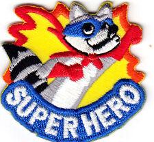"""SUPER HERO"" IRON ON EMBROIDERED PATCH - COMICS - CARTOONS -TV - MOVIE"
