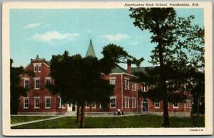 1940s Pocahontas, Arkansas Postcard POCAHONTAS HIGH SCHOOL Building View / Linen