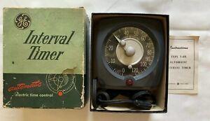 Vintage GE Interval Timer Model T48 Original Box Darkroom X-Ray Electric Time