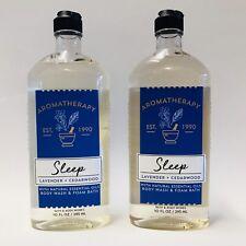 2 Bath & Body Works Aromatherapy Sleep Lavender Cedarwood Body Wash & Foam 10 oz