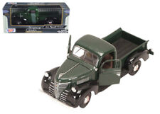 1941 PLYMOUTH PICKUP TRUCK GREEN BLACK 1/24 SCALE DIECAST CAR MODEL BY MOTOR MAX