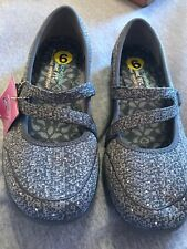 Skechers Womens Size 9 Gray Tweed With Stud Accents Mary Jane Shoes New
