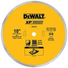 DEWALT DW4762 10 Wet Cutting Continuous Rim Saw Blade Brand New Free Shipping