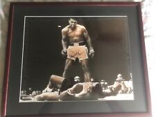 MUHAMMAD ALI SIGNED PHOTO OVER LISTON 16 X 20 STEINER COA!!!