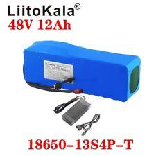 LiitoKala 48v 12ah lithium battery 48v 12ah electric bike with 54.6V 2A charger