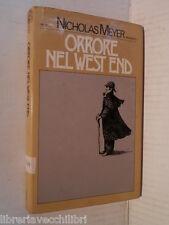 ORRORE NEL WEST END Nicholas Meyer Attilio Veraldi Rizzoli 1977 Prima edizione