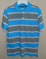 Arizona Jean Co Boys Large 14/16 Polo Short Sleeve Blue Grey Shirt New