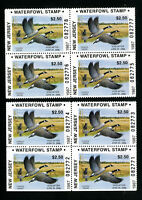 US Duck New Jersey Stamps # 7 XF Group of 8 OG NH Scott Value $136.00
