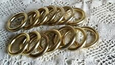 14 x Vintage French Cafe Gold Gilded Brass Curtain Rings