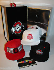 Nike Ohio State 3 Hat Box Set Red White Limited Edition Snapback Cap New