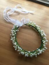 Gypsophila Baby's Breath Flower Crown Halo Hair Bridal wedding headband