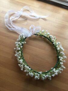 Gypsophila Baby's Breath Flower Crown Halo Hair Bridal wedding headband