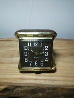 Vintage Bulova Travel Alarm Clock Made in Korea.