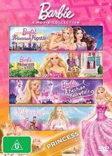 Barbie Princess Collection One DVD (4 Disc) Popstar,Charm,Fashion,Nutcracker