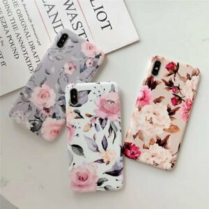 Flower Case For iPhone 11 Pro Max XS Xr 7 8 Plus SE Shockproof Soft Phone Cover
