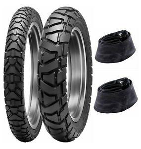 Dunlop Trailmax Mission 90/90-21 & 130/90-18 Tire & Tube Set For Honda XR650L