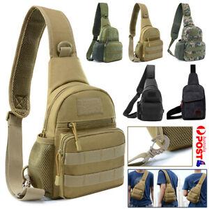 Mens Chest Bag Small Shoulder Backpack Man Sling Cross Body Satchel Bag Outdoor