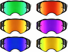 REPLACEMENT Goggle LENS to fit OAKLEY AIRBRAKE MOTOCROSS Mirror tinted Clear