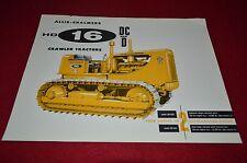 Allis Chalmers HD-16 DC & D Crawler Tractor Dealers Brochure BWPA Ver14