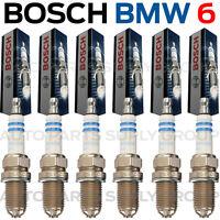 6PC BMW Spark Plugs Bosch OEM Platinum+4 Factory High Power Set E39/E46-M54 NEW