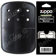 Zippo BLACK Refillable Hand Warmer wPouch & Additional Burner 40334 40285 44003