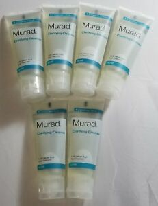 6X Murad Acne Clarifying Cleanser -Reduce Blemishes & Breakouts - 1.5 fl oz each