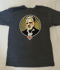 NEW DOS EQUIS BEER MAN T-SHIRT GRAY SZ LARGE MOST INTERESTING MAN IN THE WORLD