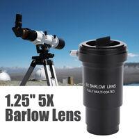 "Metal Multi-coated 1.25"" 5X Barlow Lens M42 Thread for 31.7mm Telescope Eyepiece"