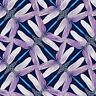 Dance of the Dragonfly - PINWHEEL GEO NAVY/VIOLET - 100% Quilting Cotton