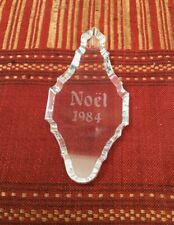 BACCARAT France • Crystal NOEL 1984 Christmas Holiday Tree Ornament • MINT
