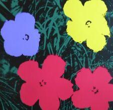ANDY WARHOL POPPY FLOWERS SUNDAY B.MORNING SILK-SCREEN 11.73 WITH COA