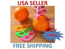 3 Kitchen Cutter Citrus Orange Fruit Peeling Tools Peeler Sheller Paring Slicer