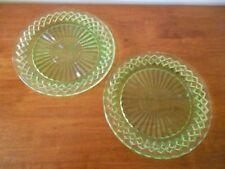Vintage Original Art Deco Green Depression Glass
