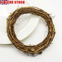 UK Christmas Artificial Vine Ring Wreath Rattan Wicker Garland Xmas Party Decor