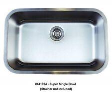BLANCO 441024 STELLAR Super Single Bowl Undermount Stainless Steel Kitchen Sink