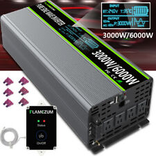 LCD Power Inverter Pure Sine Wave 24V To AC 120V 3000W 6000W 60Hz Remote Control