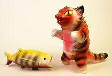 KONATSU NEGORA MAX TOY COMPANY SOFUBI KAIJU CAT BIG FISH RARE ORANGE YELLOW RED