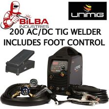UNIMIG RAZORWELD DIGITAL 200 AC/DC PULSE TIG WELDER with FOOT CONTROL