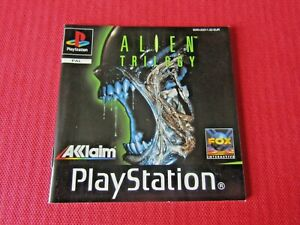 Alien Trilogy PS1 Manual Black Label Replacement Sony ps1 Playstation