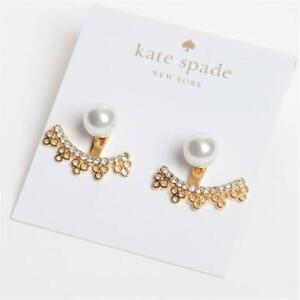 Kate Spade New York Chantilly Charm Ear Jackets Earrings White/Gold