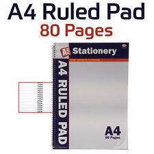 Página de 20 X 80-A4 Gobernado Pad-Espiral-gobernado-Ideal para la escuela-trabajo-Universidad