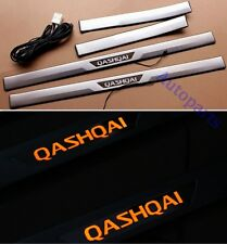 Orange LED Door sill scuff plate For nissan Qashqai 2007-2013 Except +2 Models