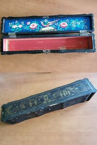 👍 RARE 19TH CENTURY CHINA CHINESE CANTON FAN BOX - LARGER THAN USUAL 出洋古董扇盒