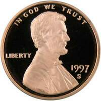 1997 S Lincoln Memorial Cent Choice Proof Penny 1c Coin Collectible