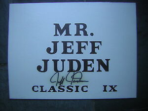 Jeff Juden Autographed 1990's Boston-Peabody Classic Sports Show Table Sign
