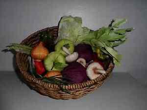 24 fuit Faux Vegetables Display Prop basket Kitchen Decor Crafts Veggies satin