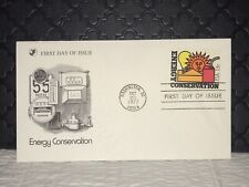 1977 ENERGY CONSERVATION First Day Issue Postal Cover, NF, Ship Free