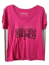 Eric Church concert Pink T-shirt with Angel wings on back side. Size Xxl. Look