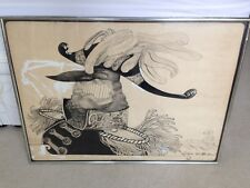 Original Ralph Steadman Pen & Ink Artwork Signed, Not Print. Hunter Thompson